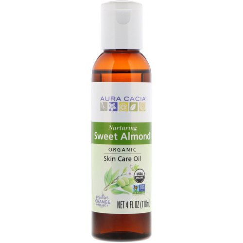 Aura Cacia, Organics, Skin Care Oil, Nurturing Sweet Almond, 4 fl oz (118 ml) Review