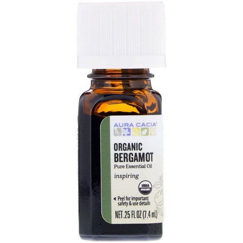 Aura Cacia, Pure Essential Oil, Organic Bergamot, .25 fl oz (7.4 ml) Review