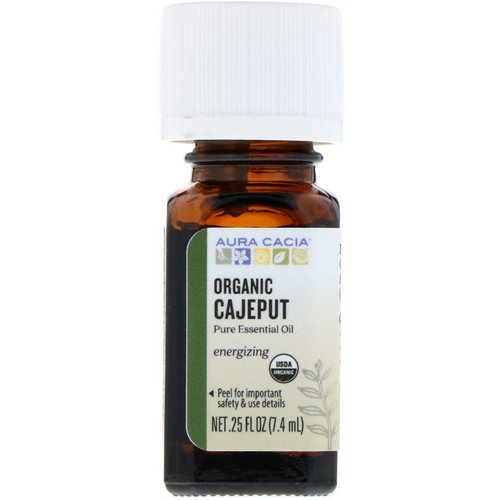 Aura Cacia, Pure Essential Oil, Organic Cajeput, .25 fl oz (7.4 ml) Review
