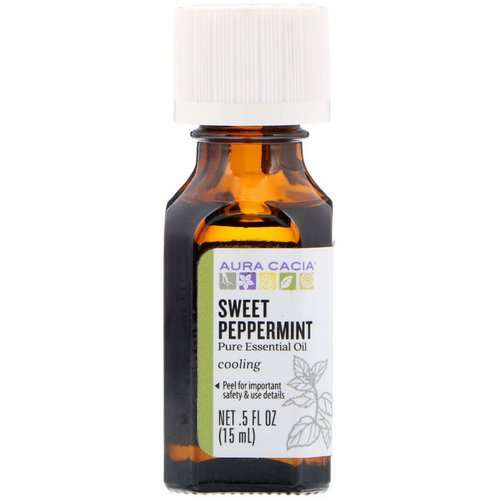 Aura Cacia, Pure Essential Oil, Sweet Peppermint, .5 fl oz (15 ml) Review