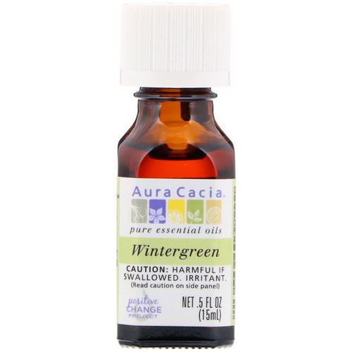 Aura Cacia, Pure Essential Oil, Wintergreen, .5 fl oz (15 ml) Review
