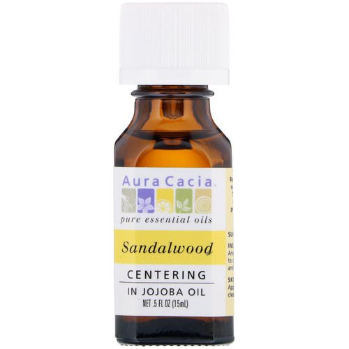 Aura Cacia, Pure Essential Oils, Sandalwood, .5 fl oz (15 ml) Review