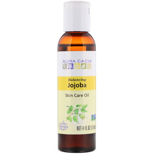 Aura Cacia, Skin Care Oil, Balancing Jojoba, 4 fl oz (118 ml) Review