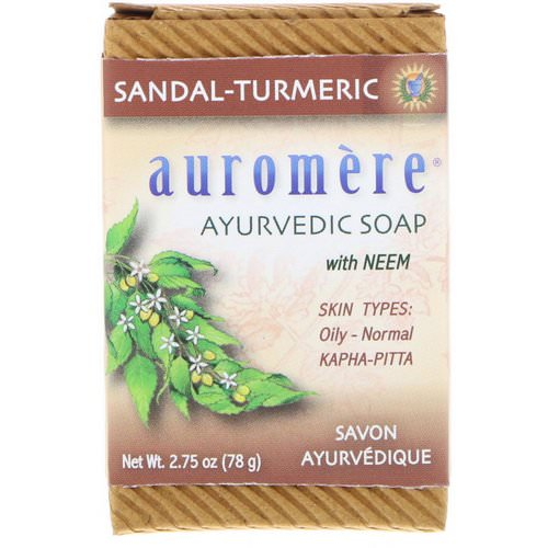 Auromere, Ayurvedic Soap, with Neem, Sandal-Turmeric, 2.75 oz (78 g) Review