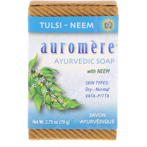 Auromere, Ayurvedic Soap, with Neem, Tulsi-Neem, 2.75 oz (78 g) Review