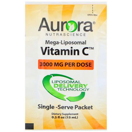 Aurora Nutrascience, Liposomal Vitamin C, Cold, Cough, Flu