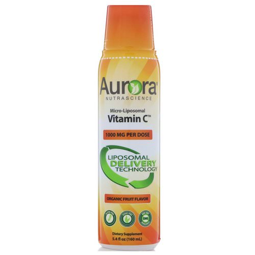 Aurora Nutrascience, Micro-Liposomal Vitamin C, Organic Fruit Flavor, 1000 mg, 5.4 fl oz (160 ml) Review