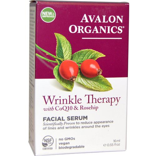 Avalon Organics, CoQ10 & Rosehip Wrinkle Therapy, .55 fl oz (16 ml) Review