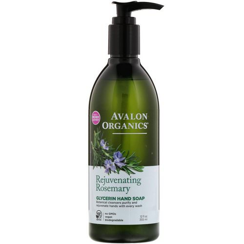 Avalon Organics, Glycerin Hand Soap, Rejuvenating Rosemary, 12 fl oz (355 ml) Review
