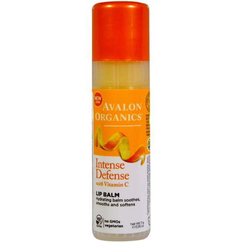 Avalon Organics, Intense Defense, With Vitamin C, Lip Balm, 0.25 oz (7 g) Review