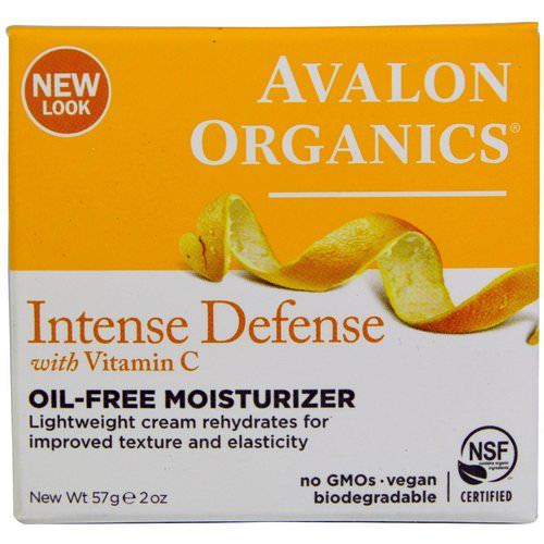 Avalon Organics, Intense Defense, With Vitamin C, Oil-Free Moisturizer, 2 oz (57 g) Review
