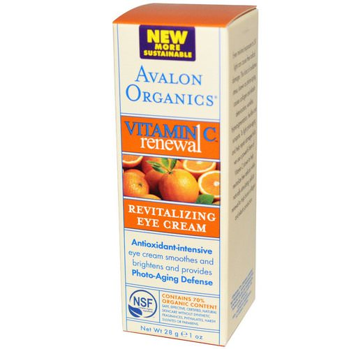 Avalon Organics, Vitamin C Renewal, Revitalizing Eye Cream, 1 oz (28 g) Review