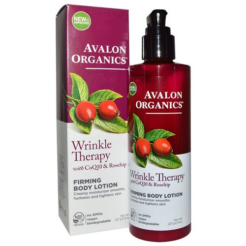 Avalon Organics, Wrinkle Therapy, With CoQ10 & Rosehip, Firming Body Lotion, 8 oz (227 g) Review