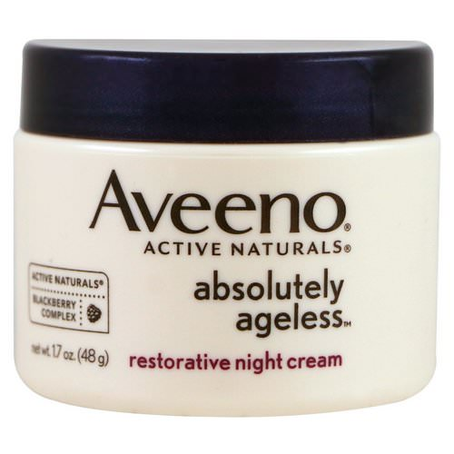 Aveeno, Absolutely Ageless, Restorative Night Cream, 1.7 oz (48 g) Review