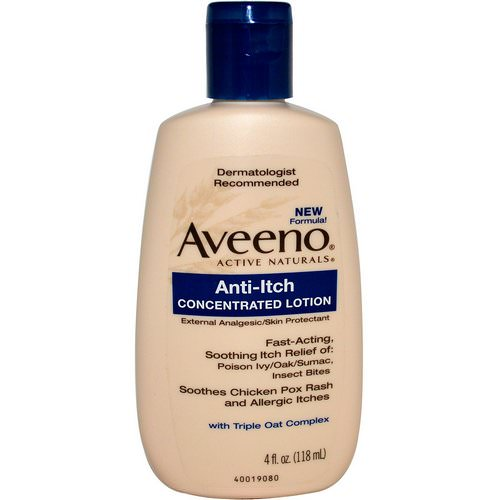 Aveeno, Active Naturals, Anti-Itch Concentrated Lotion, 4 fl oz (118 ml) Review