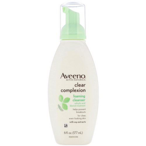 Aveeno, Active Naturals, Clear Complexion Foaming Cleanser, 6 fl oz (177 ml) Review