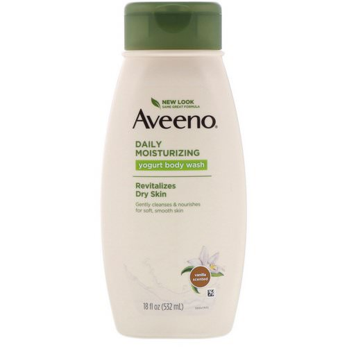 Aveeno, Daily Moisturizing Yogurt Body Wash, Vanilla, 18 fl oz (532 ml) Review