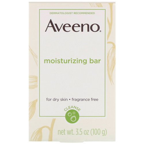 Aveeno, Moisturizing Bar With Nourishing Oat, Fragrance Free, 3.5 oz (100 g) Review