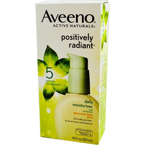 Aveeno, Active Naturals, Positively Radiant, Daily Moisturizer, with Sunscreen, SPF 15, 4.0 fl oz (120 ml) Review