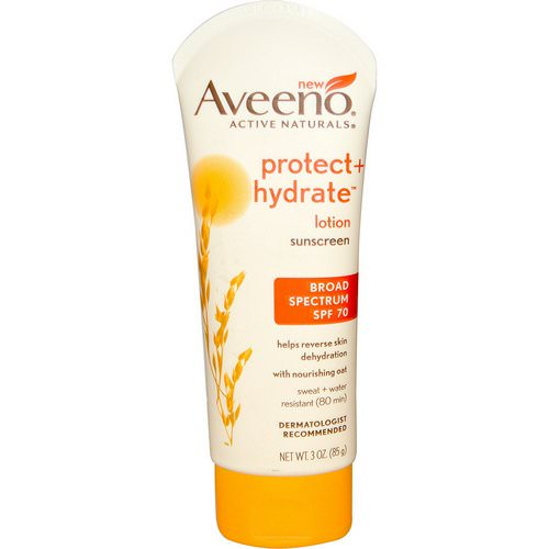 Aveeno, Active Naturals, Protect + Hydrate Lotion, Sunscreen, SPF 70, 3 oz (85 g) Review