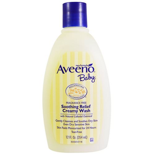 Aveeno, Baby, Soothing Relief Creamy Wash, Fragrance Free, 12 fl oz (354 ml) Review