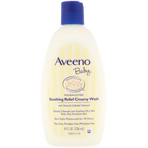 Aveeno, Baby, Soothing Relief Creamy Wash, Fragrance Free, 8 fl oz (236 ml) Review