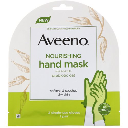 Aveeno, Nourishing Hand Mask, 2 Single-Use Gloves Review