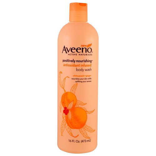 Aveeno, Positively Nourishing Antioxidant Infused Body Wash, White Peach + Ginger, 16 fl oz (473 ml) Review