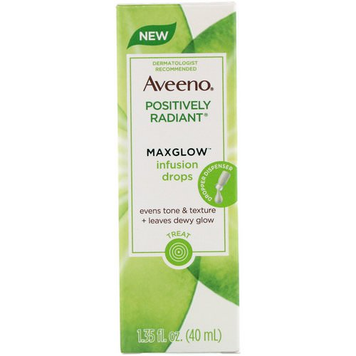 Aveeno, Positively Radiant, Maxglow Infusion Drops, 1.35 fl oz (40 ml) Review