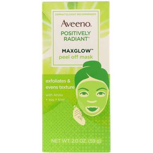 Aveeno, Positively Radiant, MaxGlow Peel Off Mask, 2 oz (59 g) Review