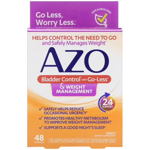 Azo, Bladder Control with Go-Less & Weight Management, 48 Capsules Review