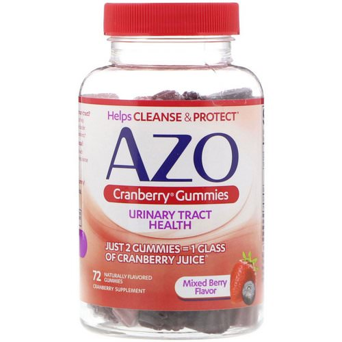 Azo, Cranberry Gummies, Mixed Berry Flavor, 72 Naturally Flavored Gummies Review