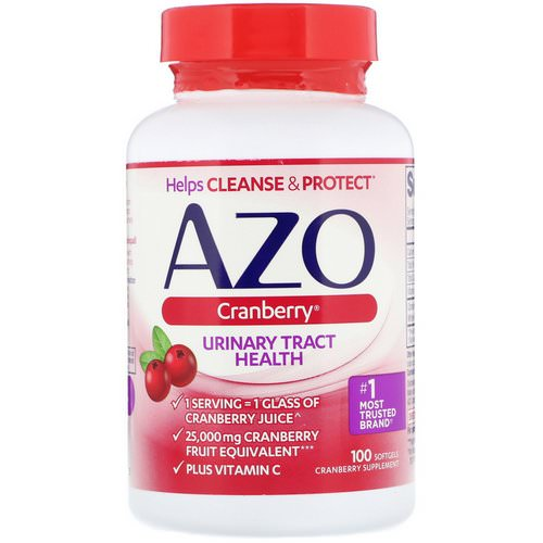 Azo, Cranberry, Urinary Tract Health, 100 Softgels Review