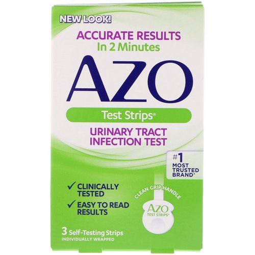 Azo, Urinary Tract Infection Test Strips, 3 Self-Testing Strips Review