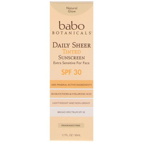 Babo Botanicals, Daily Sheer, Tinted Sunscreen, SPF 30, 1.7 fl oz (50 ml) Review