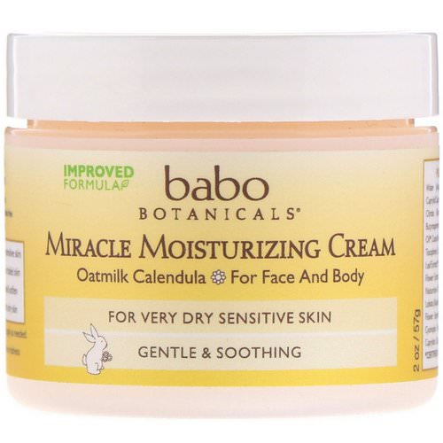 Babo Botanicals, Miracle Moisturizing Cream, 2 oz (57 g) Review