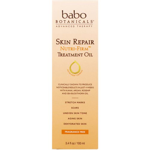 Babo Botanicals, Skin Repair, Nutri-Firm, Treatment Oil, 3.4 fl oz (100 ml) Review