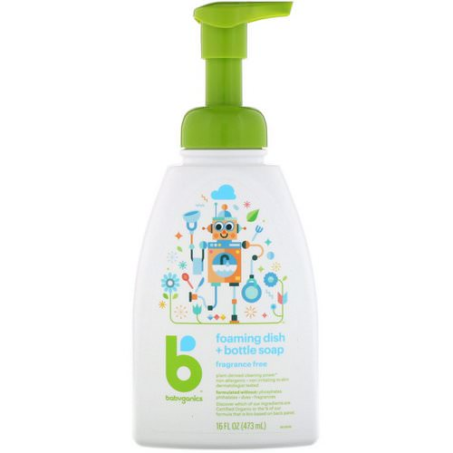 BabyGanics, Foaming Dish + Bottle Soap, Fragrance Free, 16 fl oz (473 ml) Review