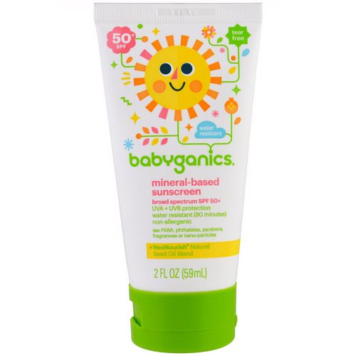 BabyGanics, Mineral Based Sunscreen Lotion, SPF 50+, 2 oz (59 ml) Review