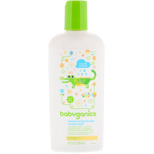 BabyGanics, Moisturizing Therapy Cream Wash, Naturally Soothing, 8 fl oz (236 ml) Review