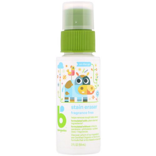 BabyGanics, Stain Eraser, On-The-Go, Fragrance Free, 2 fl oz (59 ml) Review