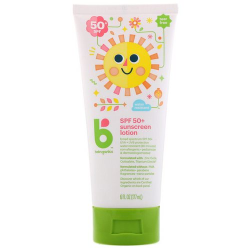 BabyGanics, Sunscreen Lotion, SPF 50+, 6 fl oz (177 ml) Review