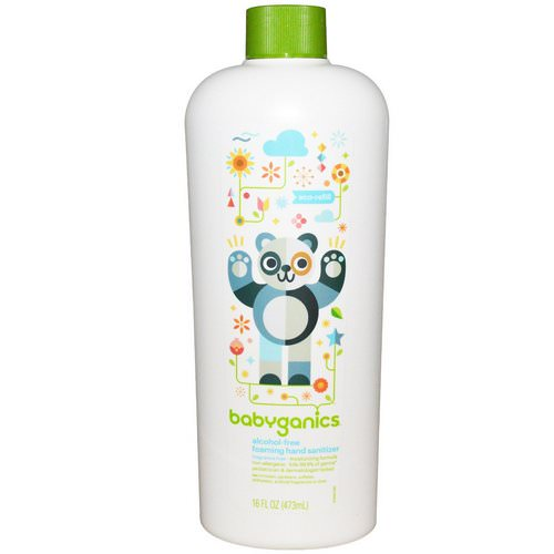 BabyGanics, Alcohol-Free,Foaming Hand Sanitizer, Eco Refill, Fragrance-Free, 16 fl oz (473 ml) Review