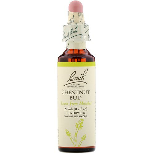 Bach, Original Flower Remedies, Chestnut Bud, 0.7 fl oz (20 ml) Review