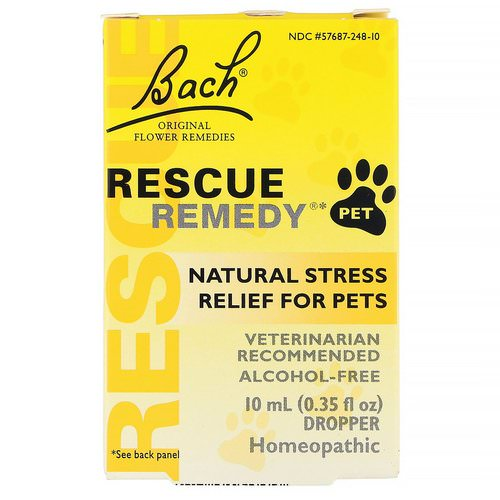 Bach, Original Flower Remedies, Rescue Remedy Pet, Natural Stress Relief, Dropper, Alcohol-Free, 0.35 fl oz (10 ml) Review