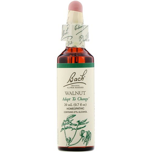 Bach, Original Flower Remedies, Walnut, 0.7 fl oz (20 ml) Review