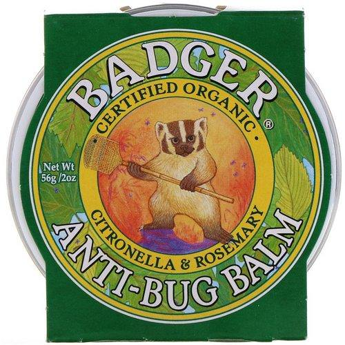 Badger Company, Anti-Bug Balm, Citronella & Rosemary, 2 oz (56 g) Review