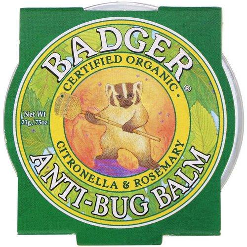 Badger Company, Anti-Bug Balm, Citronella & Rosemary, .75 oz (21 g) Review