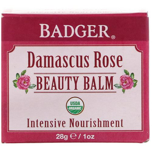 Badger Company, Organic, Beauty Balm, Damascus Rose, 1 oz (28 g) Review