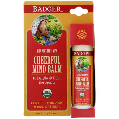 Badger Company, Cheerful Mind Balm, Sweet Orange & Spearmint, .60 oz (17 g) Review